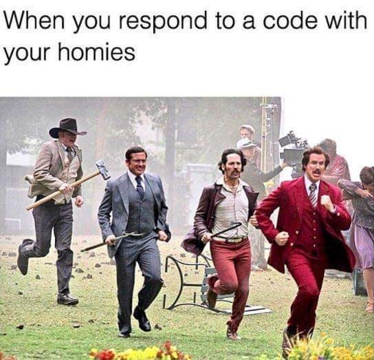 Games - When you respond to a code with your homies