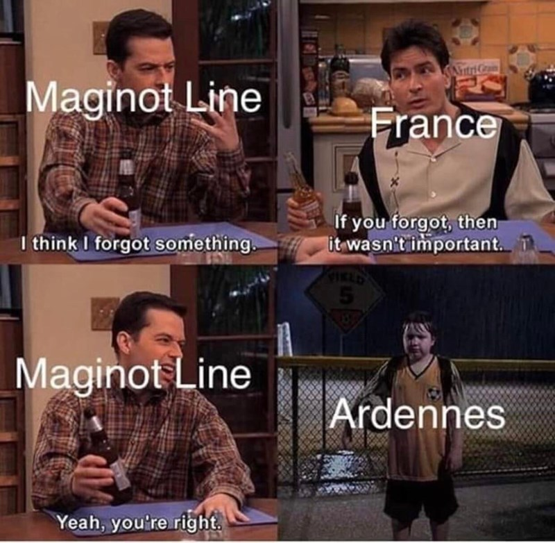Facial expression - AntriGa Maginot Line France If you forgot, then it wasn't important. I think I forgot something Maginot Line Ardennes Yeah, you're right.