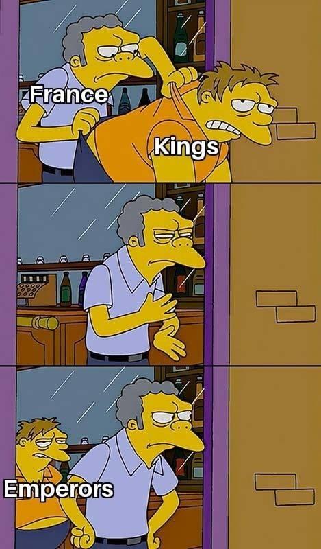 Cartoon - France Kings Emperors