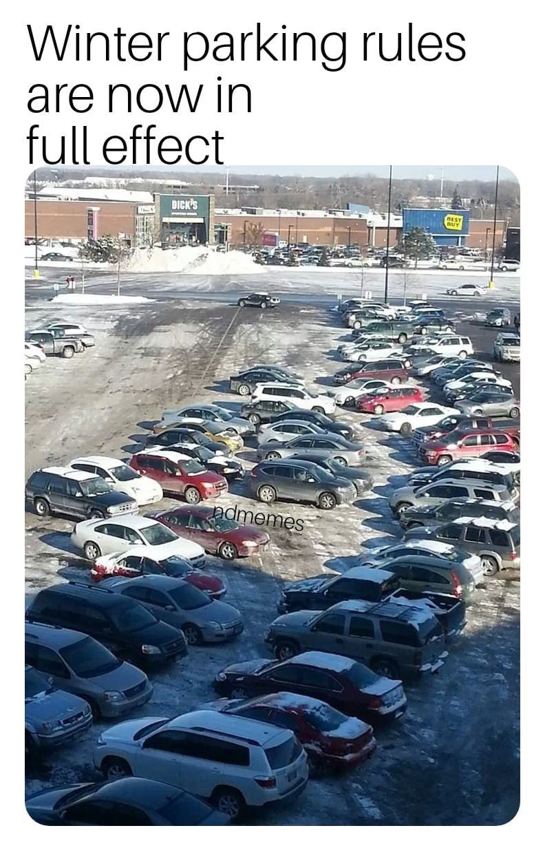 Parking - Winter parking rules are now in full effect DICK'S admemes