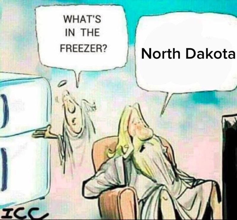 Cartoon - WHAT'S IN THE FREEZER? North Dakota ICC