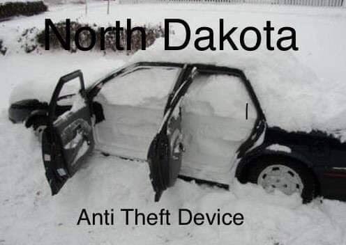 Vehicle - North Dakota Anti Theft Device