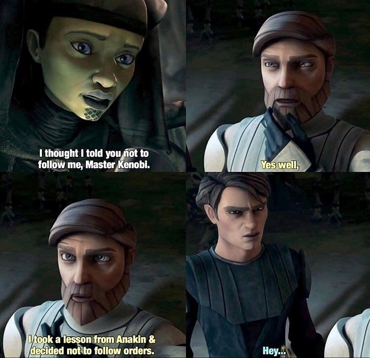 Action-adventure game - I thought I told you not to follow me, Master Kenobi. Yes well 0took a lesson from Anakin & decided not to follow orders. Hey.