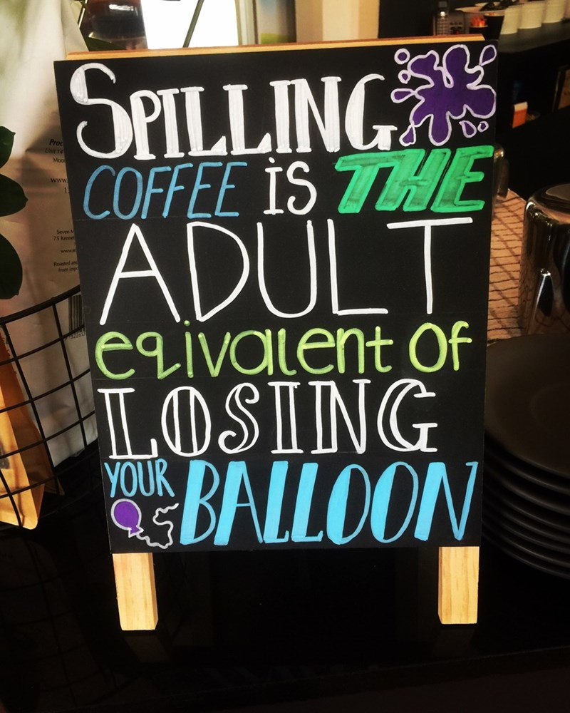 Font - SPILLING Pro Unit 14 Moo COFFEE IS 7HE www 11 ADULT Seven M 75 Kennet Roasted and from impo egivalent Of LOSING YOUR