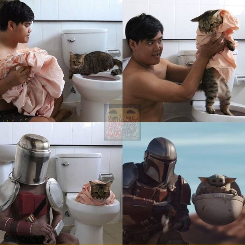 cosplay baby yoda Memes mandalorian Cats - 9400030208