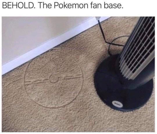 Floor - BEHOLD. The Pokemon fan base.