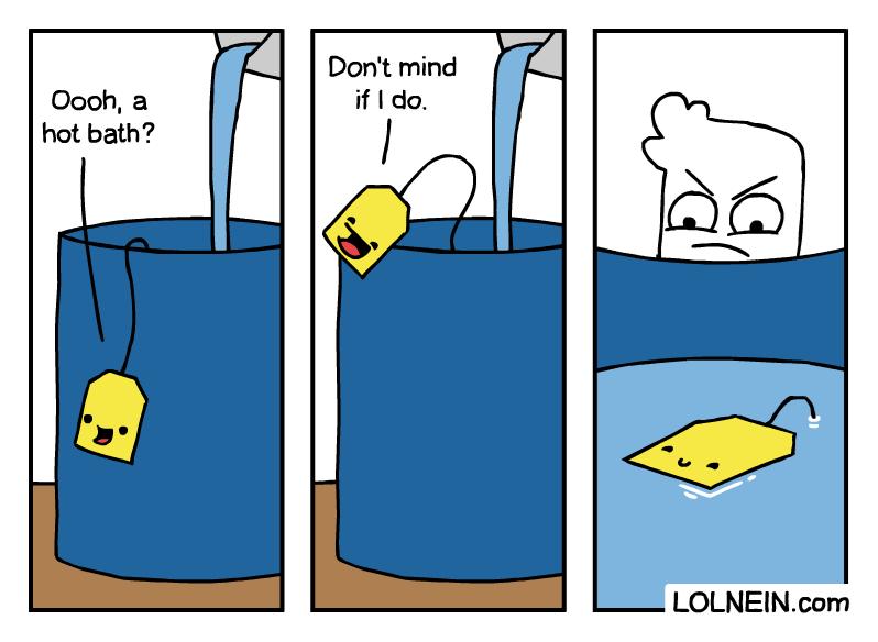 Cylinder - Don't mind if I do. Oooh, a hot bath? LOLNEIN.com