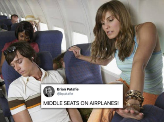 Sitting - Brian Patafie @bpatafie MIDDLE SEATS ON AIRPLANES!