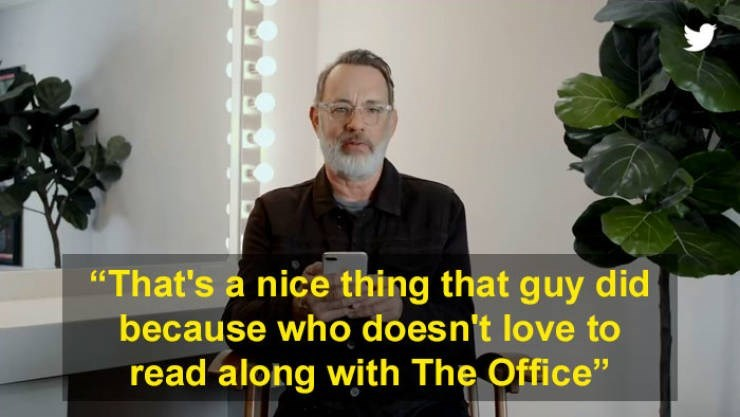 """Houseplant - """"That's a nice thing that guy did because who doesn't love to read along with The Office"""""""