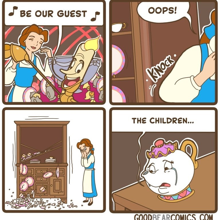 Cartoon - OOPS! S BE OUR GUEST THE CHILDREN... GOODBE ARCOMICS COM