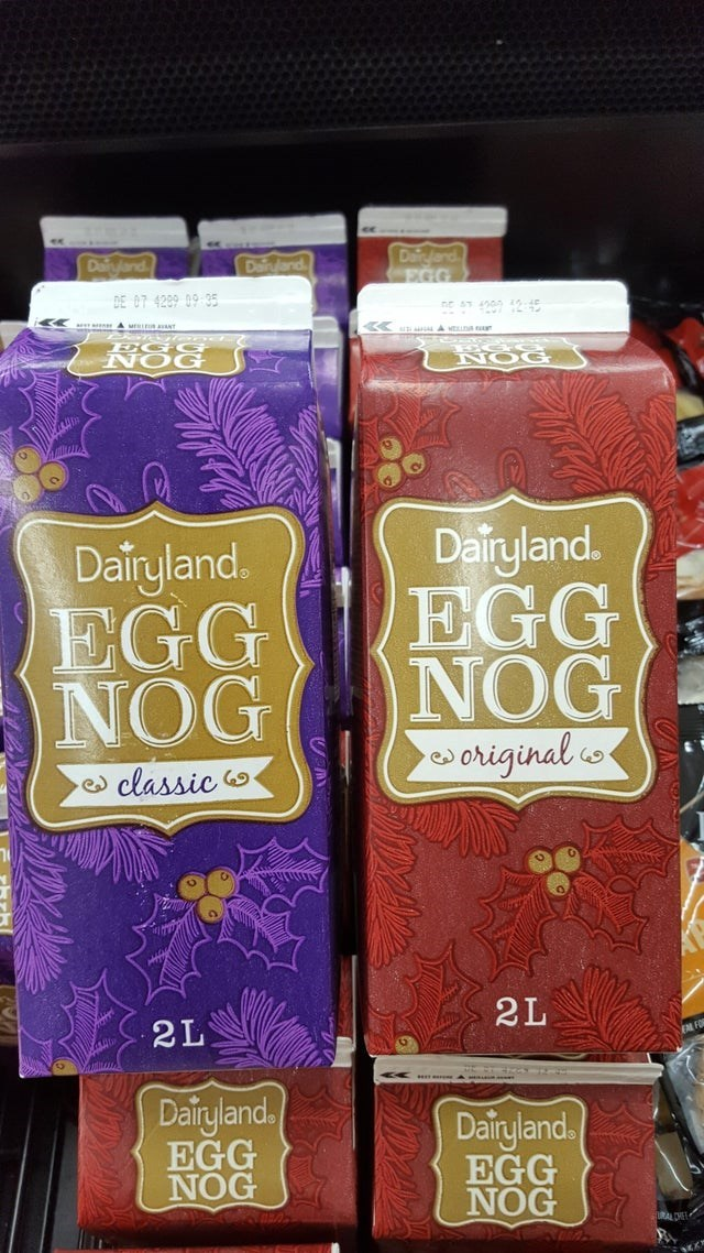 Material property - Dayland Daijand Daiyland EGG DE 07 4289 09 95 A MELLA NOG Dairyland. EGG NOG w Dairyland. EGG NOG original co- classic 2L 2L Dairyland, EGG NOG Dairyland, EGG NOG