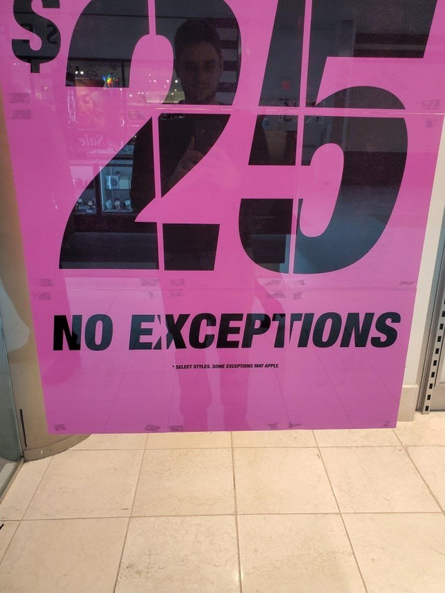 Pink - 25 NO EXCEPTIONS SELECT STYLES SOME EXCEPTIONS MAY APPLE