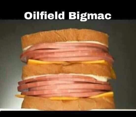 Bologna sandwich - Oilfield Bigmac