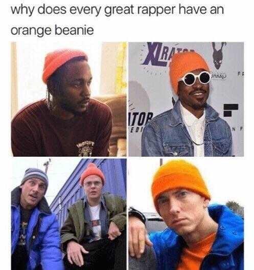 Dastar - why does every great rapper have an orange beanie XLBA JANAU ITOP EDI