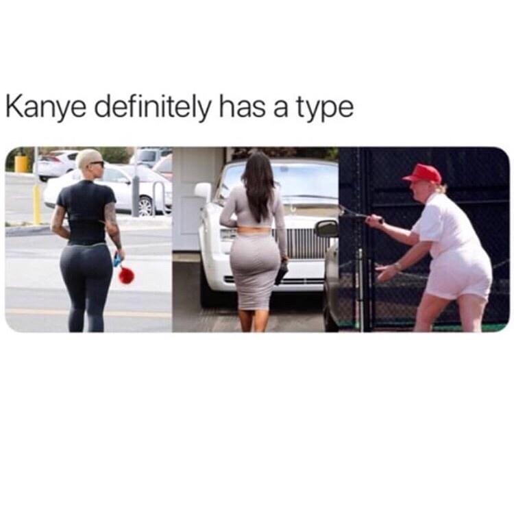 Product - Kanye definitely has a type