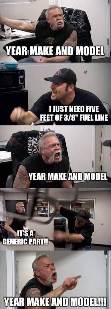 """Photo caption - YEAR MAKE AND MODEL TJUST NEED FIVE FEET OF 3/8"""" FUEL LINE YEAR MAKE AND MODEL IT'S A GENERIC PART! YEAR MAKE AND MODEL! Orenge"""