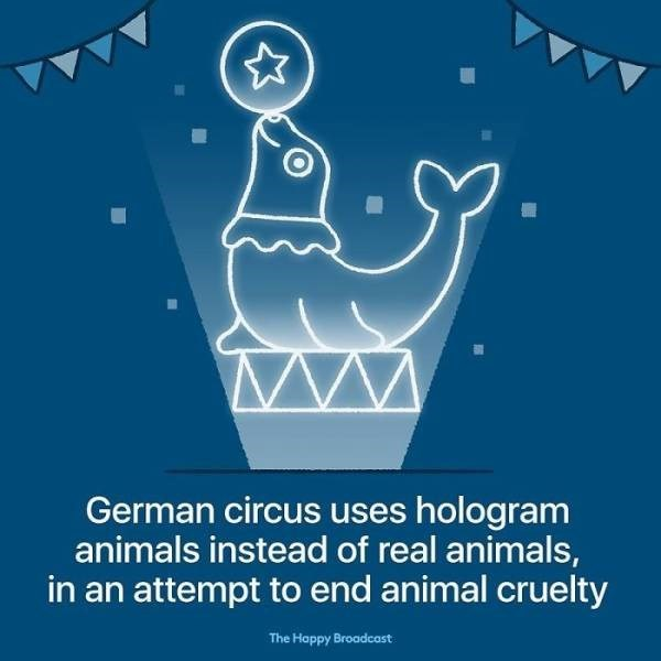 Water - German circus uses hologram animals instead of real animals, in an attempt to end animal cruelty The Happy Broadcast