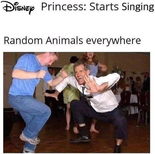 Photo caption - DiSNEy Princess: Starts Singing Random Animals everywhere