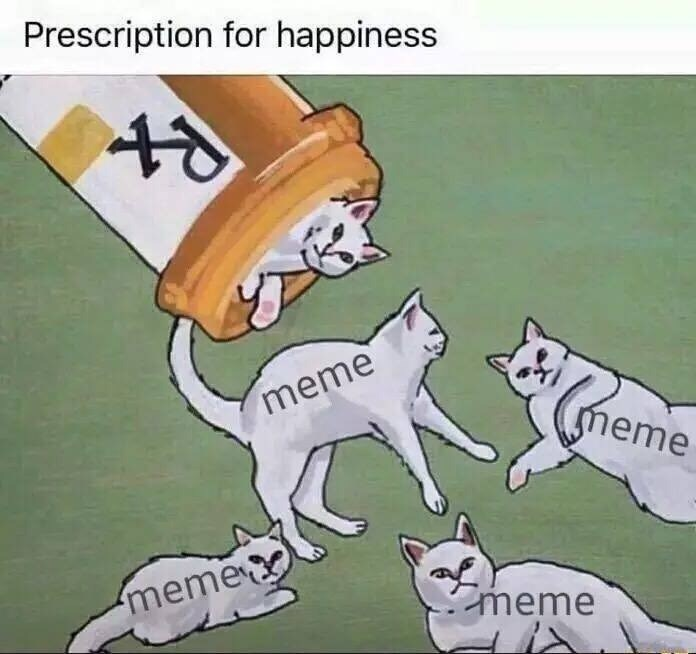 Cartoon - Prescription for happiness meme meme meme meme