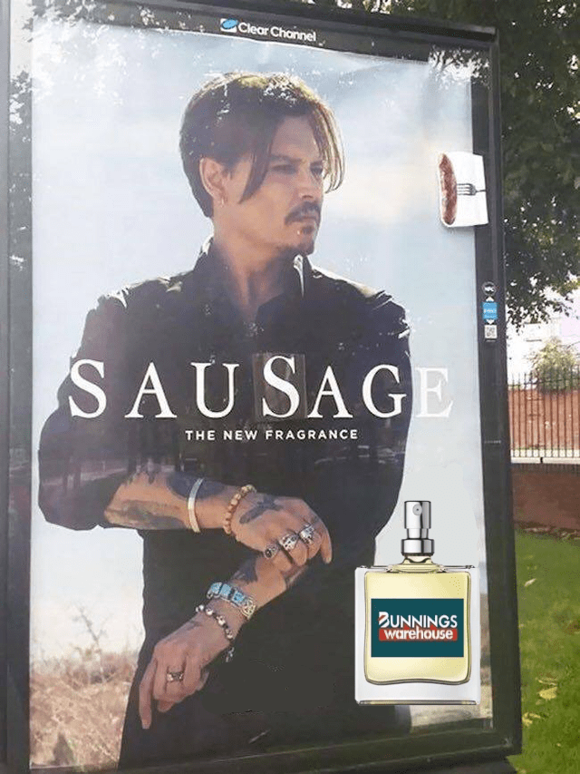 Poster - Clear Channel SAUSAGE THE NEW FRAGRANCE ZUNNINGS warehouse
