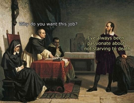 Font - Why do you want this job? I've always been passionate about not starving to death