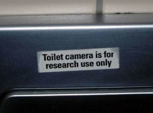 Vehicle - Toilet camera is for research use only