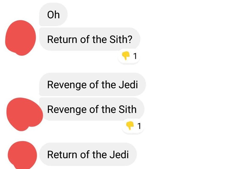 Text - Oh Return of the Sith? Revenge of the Jedi Revenge of the Sith Return of the Jedi