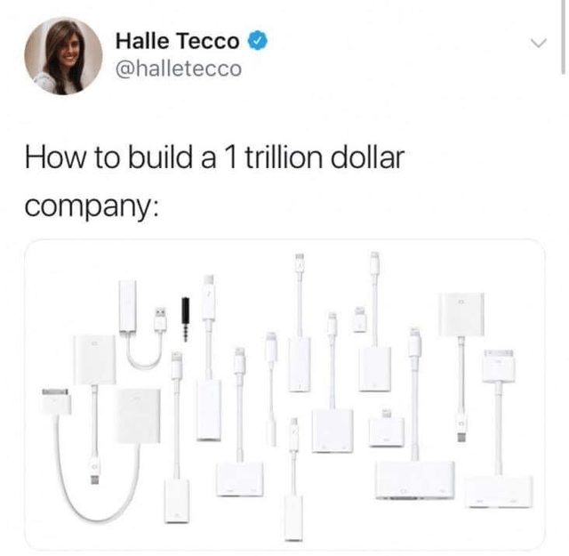 Text - Halle Tecco @halletecco How to build a 1 trillion dollar company: