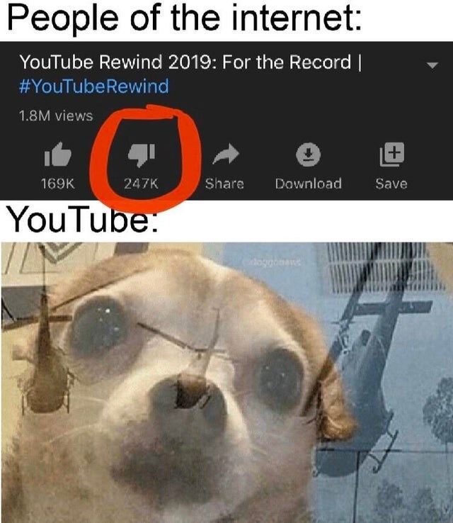 Snout - People of the internet: YouTube Rewind 2019: For the Record | #YouTubeRewind 1.8M views Download 169K 247K Share Save YouTube: doggonane
