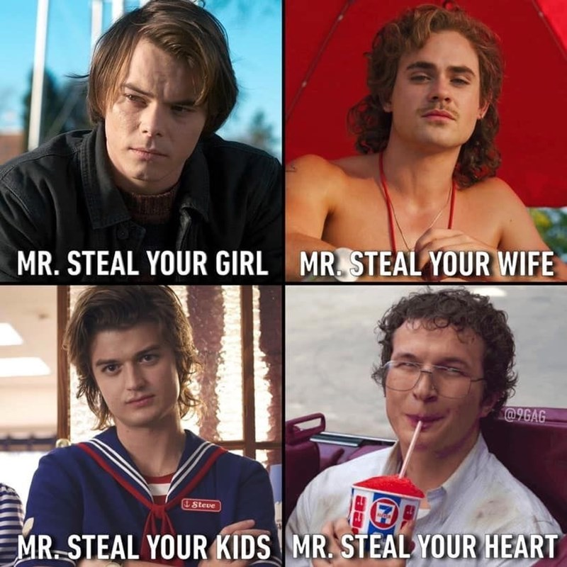 Photo caption - MR. STEAL YOUR WIFE MR. STEAL YOUR GIRL @9GAG &Steve MR. STEAL YOUR HEART MR. STEAL YOUR KIDS
