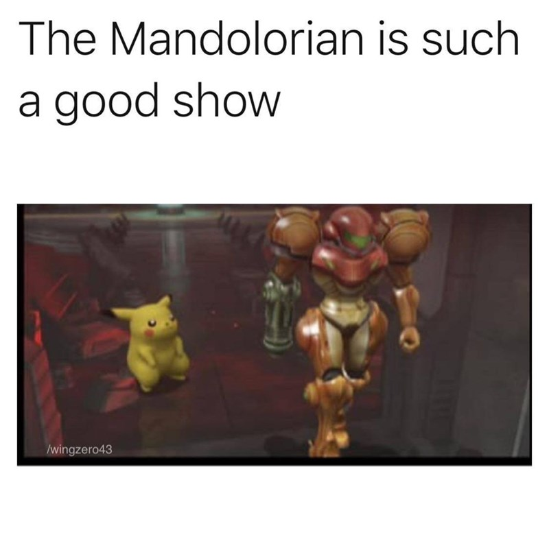 Text - The Mandolorian is such a good show /wingzero43