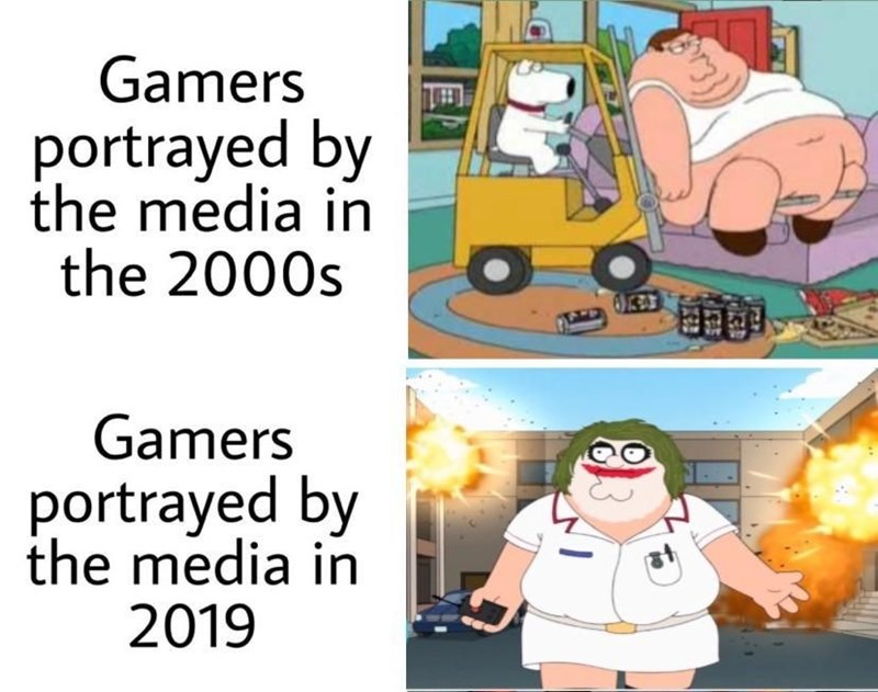 Motor vehicle - Gamers portrayed by the media in the 2000s Gamers portrayed by the media in 2019