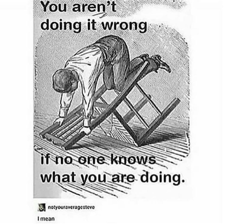 Poster - You aren't doing it wrong if no one knows what you are doing. notyouraveragesteve I mean