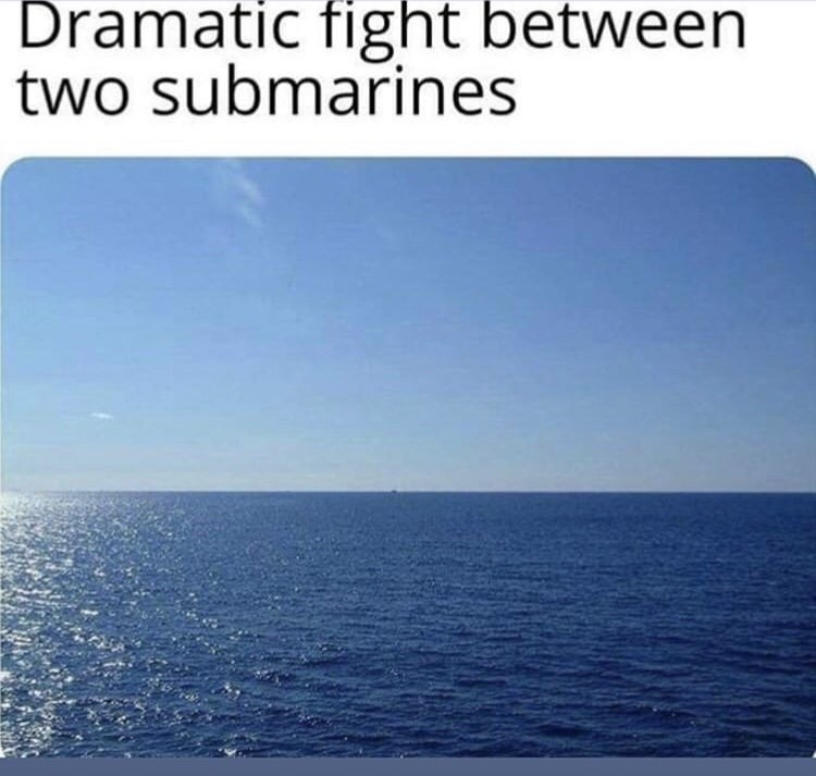 Sky - Dramatic fight between two submarines