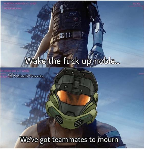 Helmet - NICROECH VER. 212200 Wake the fuck up noble. HHYORA VER. 21: 22000 @veloci Panda We've got teammates to mourn