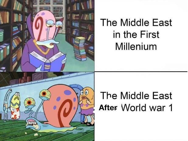 Cartoon - The Middle East in the First Millenium The Middle East After World war 1