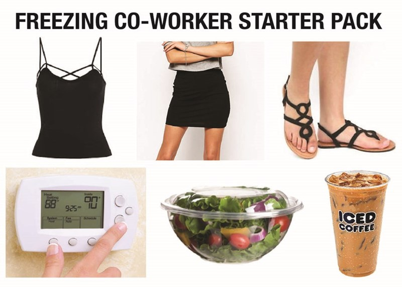 Clothing - FREEZING CO-WORKER STARTER PACK Heal Setting ON 925 ICED COFFEE System Schedue