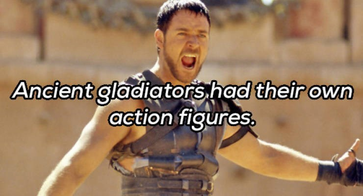 Photo caption - Ancient gladiators had their own action figures.