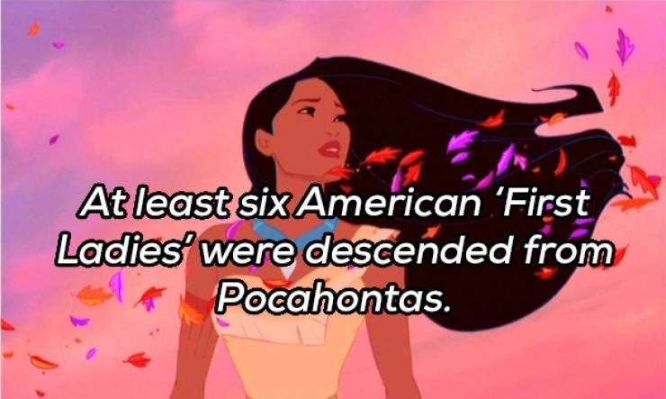 Cartoon - At least six American 'First Ladies' were descended from Pocahontas.