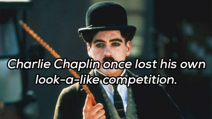 Music artist - Charlie Chaplin once lost his own look-a-like competition.