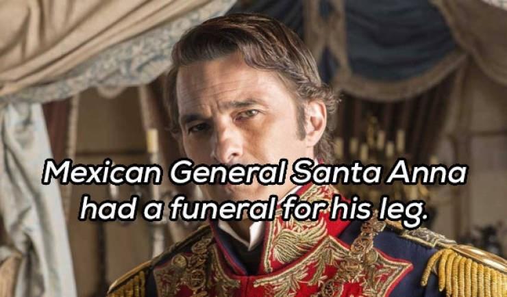 Photo caption - Mexican General Santa Anna had a funeral for his leg.
