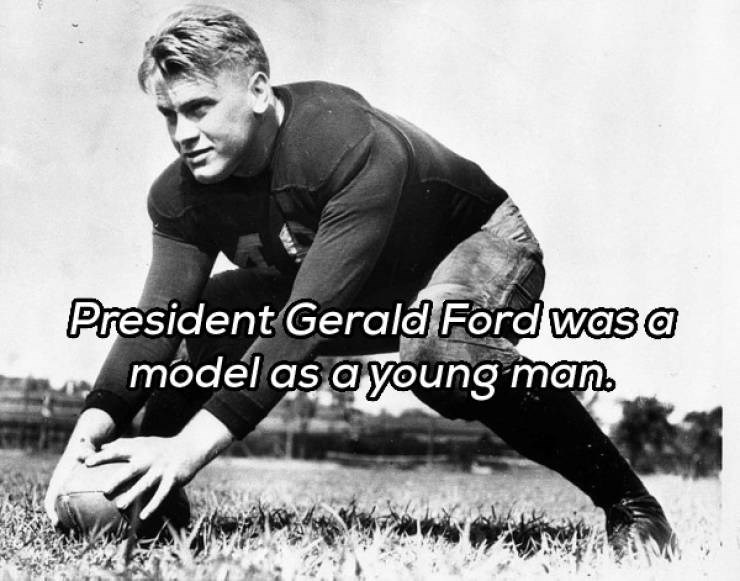 Rugby league - President Gerald Ford was a model as a young man.