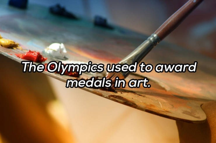 Font - The Olympics used to award medals in art.