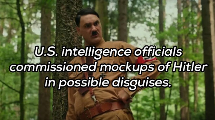 Jungle - U.S. intelligence officials commissioned mockups of Hitler in possible disguises.