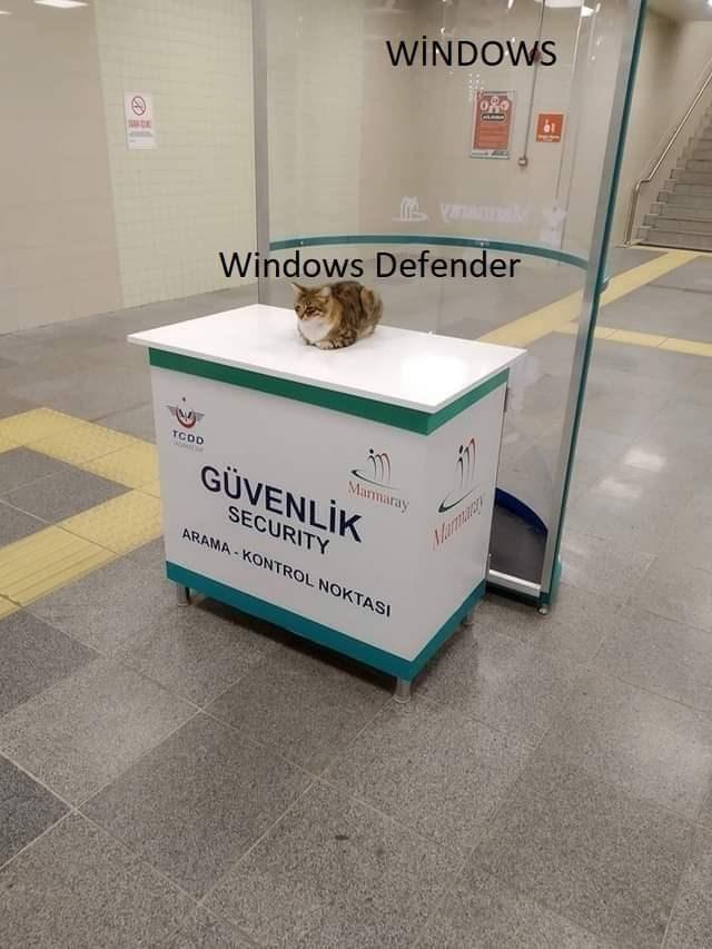 Floor - WİNDOWS Windows Defender TCDD Marmaray GÜVENLİK Marmary SECURITY ARAMA - KONTROL NOKTASI