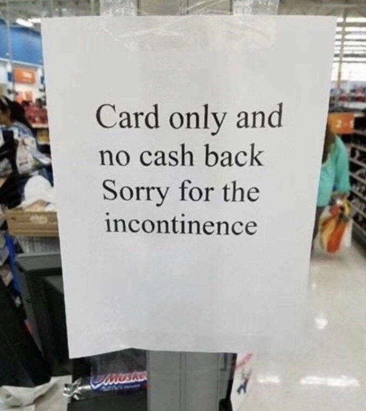Product - Card only and no cash back Sorry for the incontinence TuSke