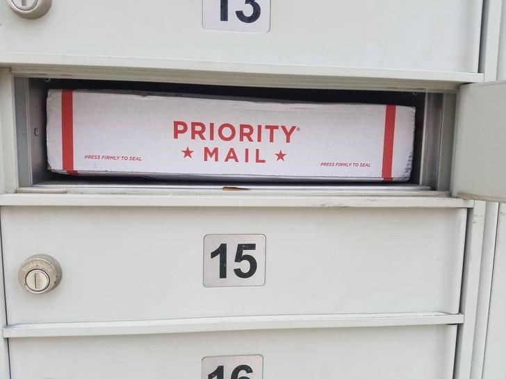 Furniture - PRIORITY * MAIL * PRESS FIRMLY TO SEAL PRESS FIRMLY TO SEAL 15