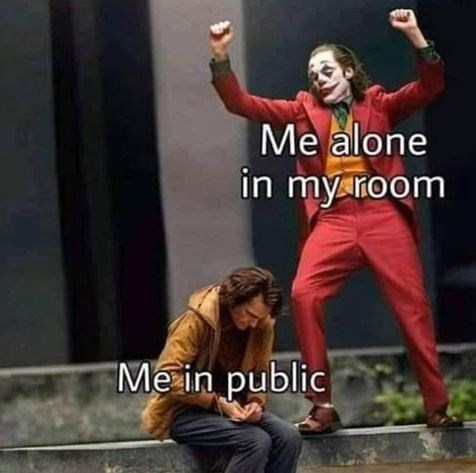 Performing arts - Me alone in my room Me in public