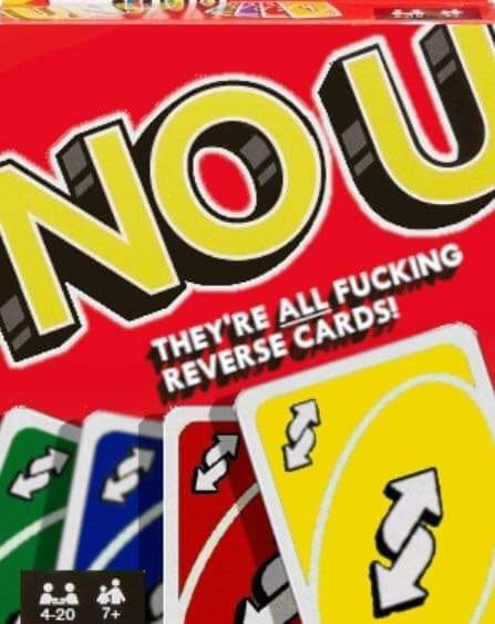 Font - NOU THEY'RE ALL FUCKING REVERSE CARDS! 4-20 7+