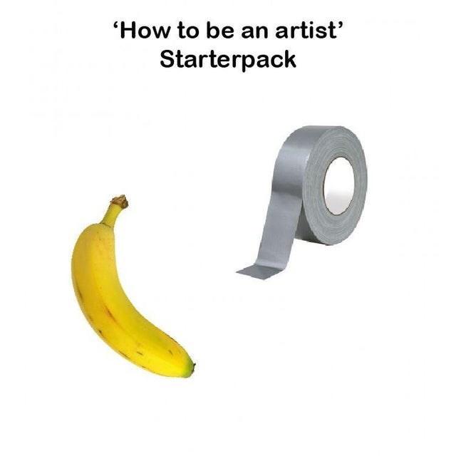 Banana family - 'How to be an artist' Starterpack